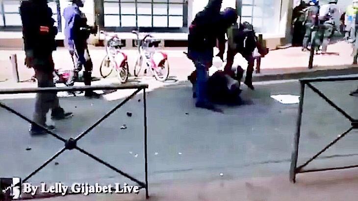 Tolosa, Sabato 13 Aprile. Il regime militare di Macron mentre picchia due giornalisti