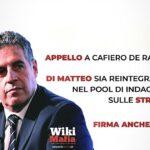 OGGETTO: RICHIESTA DI REINTEGRO DEL DOTT. DI MATTEO NEL POOL SULLE STRAGI