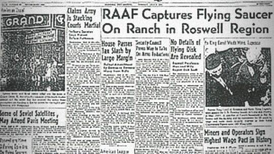 I primi di Luglio del 1947 cadeva un disco volante a Roswell