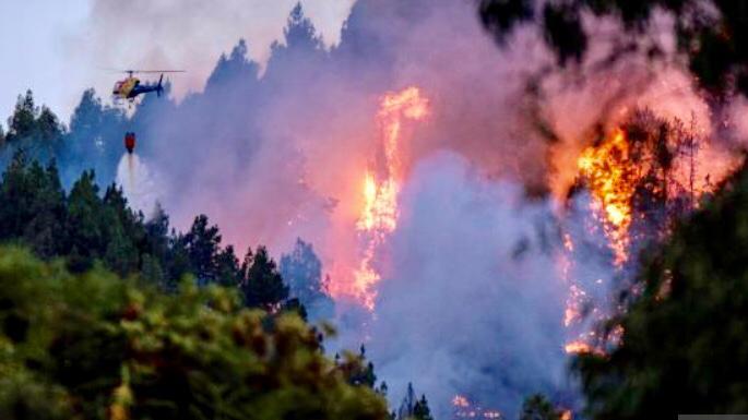 Sono aumentate a 9.000 le persone evacuate a Gran Canaria a causa di un violento incendio scoppiato sabato pomeriggio sull'isola spagnola