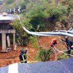 Liguria, crolla una corsia di un viadotto su autostrada A6 nel savonese in direzione Torino