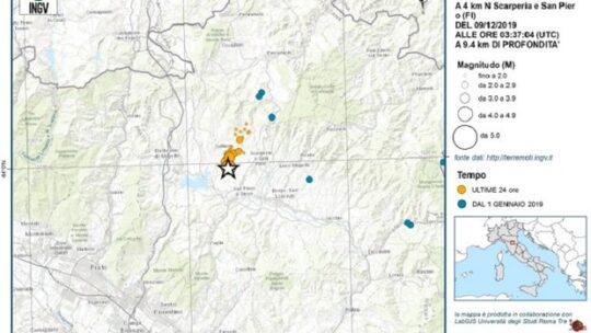 Terremoto nel Mugello, scosse vicine alla faglia attivata nel 1542