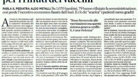 Stipendio decurtato di 4mila € per i rifiuti dei vaccini