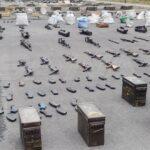 Grandi quantità di armi e droga lasciate indietro dai terroristi della Nato in Siria