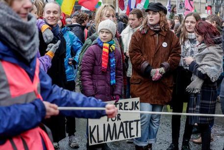 Migliaia in piazza con Greta a Bruxelles