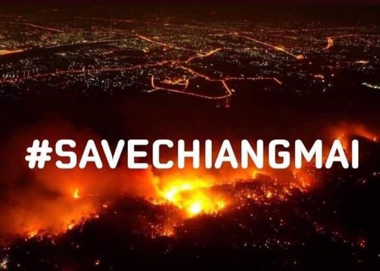 Fuoco e fiamme stanno devastando in questi giorni le zone più verdi delle regioni del nord Thailandia