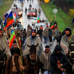 Protesta del popolo Mapuche