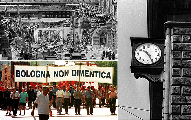Strage di Bologna, il minuto di silenzio in piazza e stazione