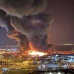 Ancona: un vasto incendio è divampato nel porto