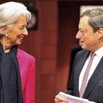 Draghi e Lagarde: la BCE non può finire i soldi, e tantomeno fallire