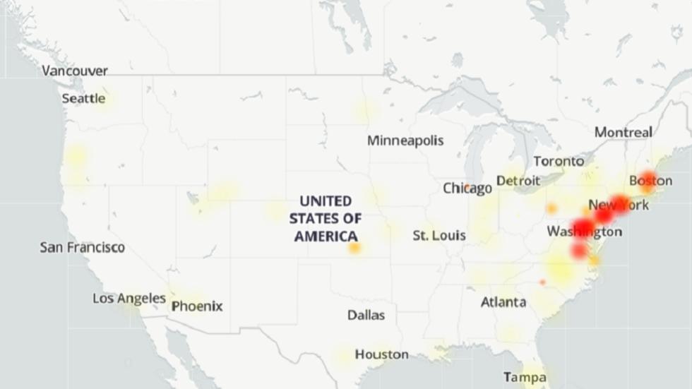 Massiccia interruzione di internet sulla costa nord-orientale degli Stati Uniti