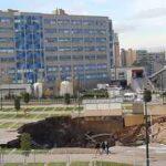 Napoli, esplosione all'Ospedale del Mare: si apre una voragine nel parcheggio