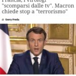"Francia: i virologi ""scomparsi"" dalle tv. Macron chiede stop a ""terrorismo"""
