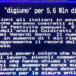"""""""5,6 milioni di italiani a digiuno"""". Il Televideo Rai sintetizza la Pasqua 2021"""