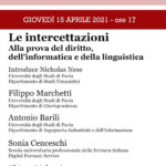 Le intercettazioni: alla prova del diritto, dell'informatica e della linguistica