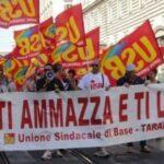 Sciopero all'ArcelorMittal contro il licenziamento di Riccardo Cristello