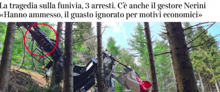 La funivia del Mottarone è l'Italia di oggi