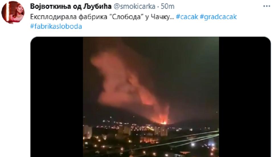 Serbia: esplosioni in una fabbrica di munizione nella città di Cacak