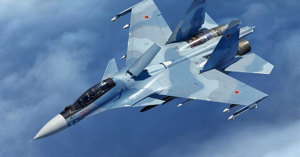 Un caccia F-35A italiano ha 'incontrato' un caccia Su-30SM della Russia sul Baltico