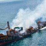 Nave cargo affondata in Sri Lanka, sversamenti di petrolio e sostanze chimiche stanno causando danni ambientali inestimabili