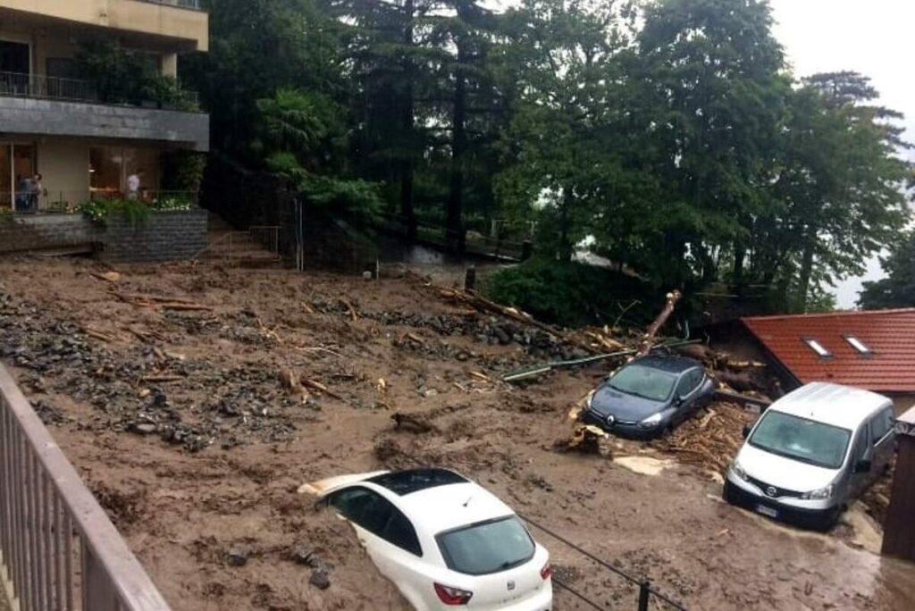 Frane e fiumi esondati a Como: oggi ancora allerta in Lombardia