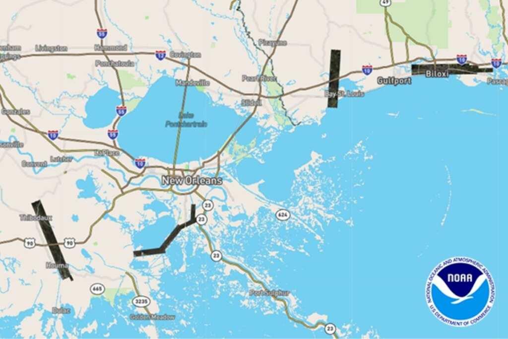 Dopo l'uragano Ida, sversamenti di petrolio e di sostanze chimiche in Louisiana