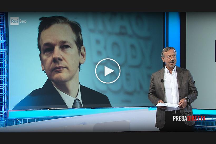 """""""Processo al giornalismo"""", la puntata coraggiosa di """"Presadiretta"""" in difesa di Assange"""