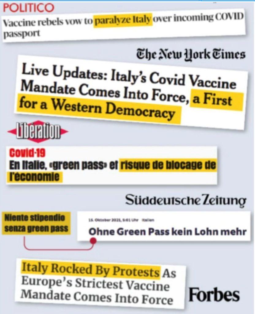 """La stampa straniera condanna Draghi: """"Sul Green pass scelte dure e senza precedenti"""""""